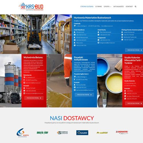 Projekt strony internetowej KAS-BUD